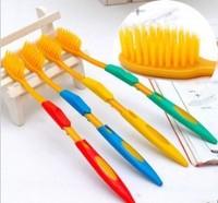 Free Shipping 4pcs/PACK KOREAN Nano resin double soft teeth toothbrush