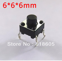 Free shipping , 1000pcs Tact Switch Push Button 6*6*6 mm Through Hole SPST-NO , whole sale