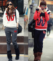 8600 w big letter with a hood sweatshirt casual sports set