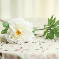 High artificial flower floor long white camelias fashion decoration flower artificial flower