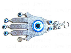 Yiwu manufacturers Large palm shape alloy tackifying resin blue evil eye Indoor and outdoor decoration Pendant(China (Mainland))