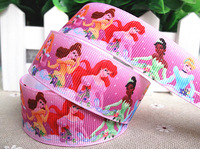 2013 new arrival 1''  25mm princess printed grosgrain ribbon princess grosgrain ribbon cartoon ribbon 10 yards