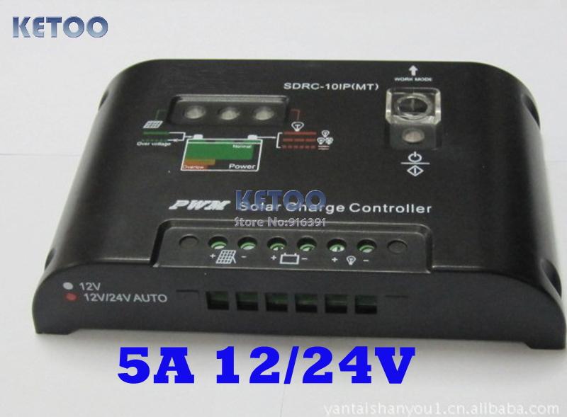 Солнечный контроллер Brand new 5 12V/24V PWM , 12v/24v 5A controller
