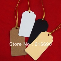 wholesale free shipping DIY kraft  price tag 0.02/pcs 500pcs golden string &500pcs price tag total1000pcs