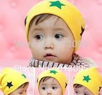 10pcs/lot free shipping pentagram baby hat baby cap infant cap Cotton Beanie Infant Hat Skull Cap Toddler Boys & Girls Hats