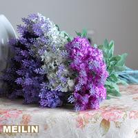 Home artificial flower merrill decoration flower silk flower provins 10 lavender