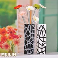Jingdezhen ceramic vase classic black and white lines modern brief fashion square vase home accessories
