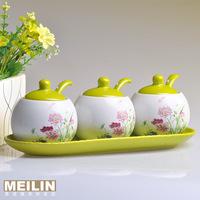 Jingdezhen ceramic fashion spice jar piece set seasoning box seasoning box