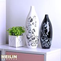 Fashion black and white vase modern brief fashion ceramic flower decoration home accessories