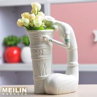 Ceramic crafts fashion modern home accessories decoration sculpture beauty vase