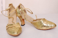 belly dance pattern 2014 new arrival Belly dance clothes belly dance shoes Latin dance shoes - gold high-heeled shoes - gold