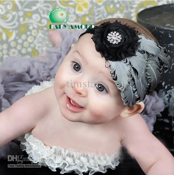 Baby Curl Feather Headband Nagorie Pad Hair Head Bands girls hair accessories 9types 5pcs/lot(China (Mainland))
