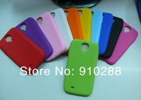 Plent  Wholesae 10000 pieces New Arrive Silicone Skin Case Protective Cover For Samsung Galaxy S IV S4 i9500
