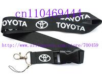 Hot 10PCS Car TOYOTA logo jacquard keychain key ring mobile phone lanyard neck strap string Free shipping   C-3