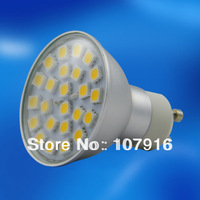 Guaranteed 100% high quality aluminum led 5w gu10 220v dimmable bulb 24pcs smd  5050 led bulb lamp light warm white