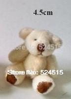 #2 H=4.5cm,50pcs/lot Cartoon Joint Bow teddy bear Plush Pendant,Key Dolls,Mobile Phone pendant,key pendant,bag pendant,Plush toy