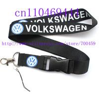 Hot 20PCS  VOLKSWAGEN Car Logo Style Lanyard  key ring mobile phone lanyard neck strap string Free shipping  C-5