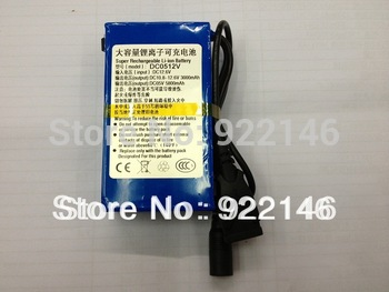 3000mAh DC 12V /5V Super Rechargeable Lithium-ion Battery Energy Storage Pack free shipping
