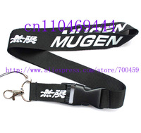 Hot 20 pcs Black MUGEN Racing Car Logo Lanyard/ MP3/4 cell phone/ keychains /Neck Strap Lanyard WHOLESALE Free shipping  C-11