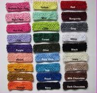 wholesale 120pcs/lot Crochet headband waffle headband for baby 1.5 inch