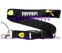Hot 20 pcs F errari  Car Logo Lanyard/ MP3/4 cell phone/ keychains /Neck Strap Lanyard WHOLESALE Free shipping  C-16