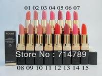 FREE SHIPPING New makeup lip colors Women rouge lipstick lip stick(15pcs/lot) 15 colors choose