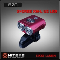 Free shipping Niteye B20 Dual CREE XM-L U2 LED 1200 Lumen Bicycle Light-Red