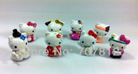 cute hello kitty  Cartoon Figure Toys kimono Japanese dress figures 8pcs/set  action figure  free shipping
