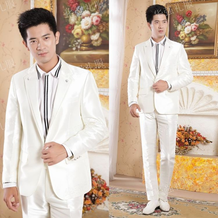 2013 suit male formal dress clothes men's clothing groom suits(China (Mainland))