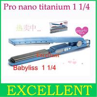 "Free shipping Nano Titanium Ceramic Hair Straightening 1 1/4"" Plate Width,Bivoltage+Holograms  no box"