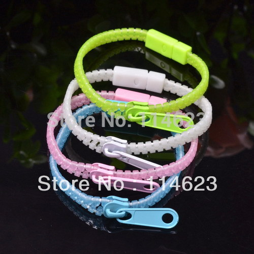 200pcs/lot2013 New exaggerated Zipper bracelet candy plating transparent Punk Zipper Zip Shaped Bangle Bracelet(China (Mainland))