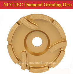 4'' Diamond grinding DISC with 3 protective segments | 100mm Concrete granite grind CUP wheel | 9 segments silver welding(China (Mainland))