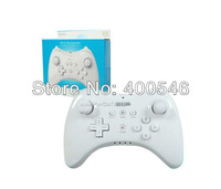 Free shipping 5 pcs/lot gamepad  Joysticks Classic Controller Grip PRO for wiiu (White)