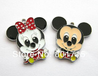 DIY charms 20pcs mouse lovers charms Hang Pendant Charm mixed style Fit Diy Phone Strips zinc allloy
