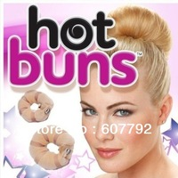 Free Shipping 200pack/lot(one pack=2pcs) Hot Buns As Seen On TV Hair Accessories TWO sizes TWO colors TWO pieces u choose