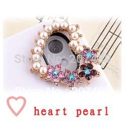 DIY shiny heart pearl crystal rhinestone beads for cellphone mobile phone camera cases scrapbook jewelry decorations nail art(China (Mainland))