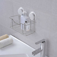 New Arrive Stainless Steel Bathroom Shelf Bathroom Rack Suction Cup wall organizer / vacuum lock system --Free shipping!