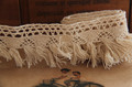 Handmade diy clothes accessories lace embroidery beige cotton tassel embroidery laciness 4cm