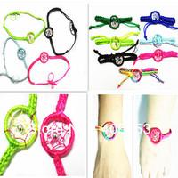 HOT!!! Guaranteed 100% beautiful dream catcher,fashion  bracelet  12piece/lot ,6 colours mixed , 12pcs in opp bag  Free shipping