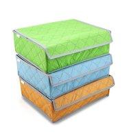 24 CellS Bamboo Charcoal Underwear Ties Socks Drawer Closet Organizer Storage Box