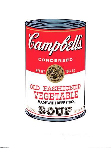 Pop art canvas art font b soup b font oil font b painting b font on