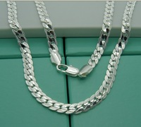 18 inch.20inch.24inch.925 silver ornament. Factory direct sales.High quality men's necklace. wholesale price. Various Size.1pcs