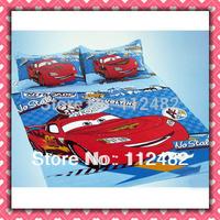 4pcs Set 100% Cotton Cars Printing Bedding Set Kid Children's Free Shipping