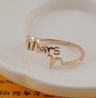 Wholesale winnings 12 Constellation Ring the patron saint rose gold female models couple ring ring tail ring titanium steel