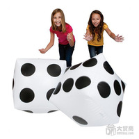 Free Shipping 4pcs/lot Plastic Inflatable Dice Balloon Stage Magic Trick Early Education Toys For Children