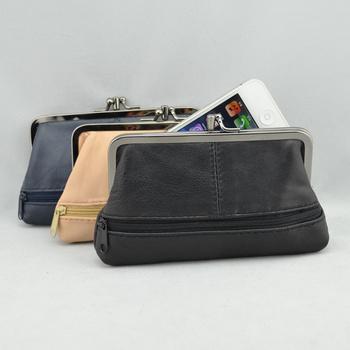 Free Shipping! Genuine leather women's mobile phone bag  sheepskin card holder bag C340