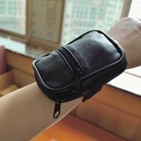 Free Shipping! Sheepskin wrist length wallet key card holder sports genuine leather coin purse C334
