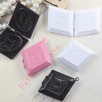 32*38*8mm mix pink/white/black painted color brass locket, enamel locket charms, lockets vintage