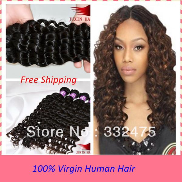 Deep-wave-virgin-hair-brazilian-curly-human-hair-extension-ombre-weave ...