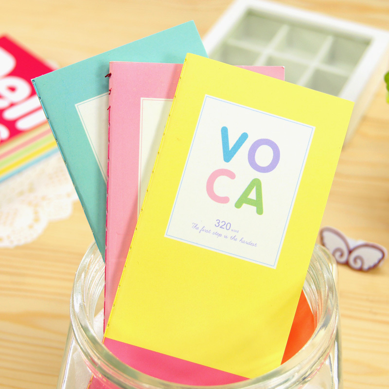 free shipp Korea stationery fresh tsmip voca slitless color page words this portable the english 1982(China (Mainland))